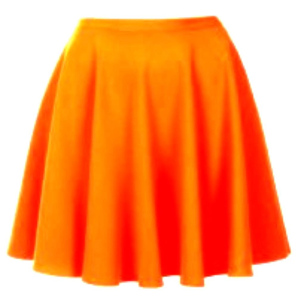 Orange High Waisted Skirt | Jill Dress